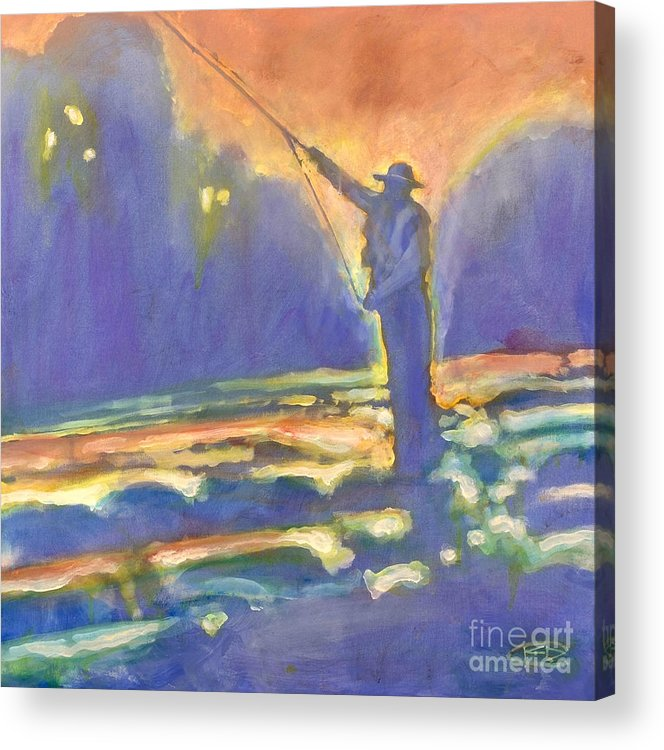 Fishing Acrylic Print featuring the painting Miracle Moment by Kip Decker