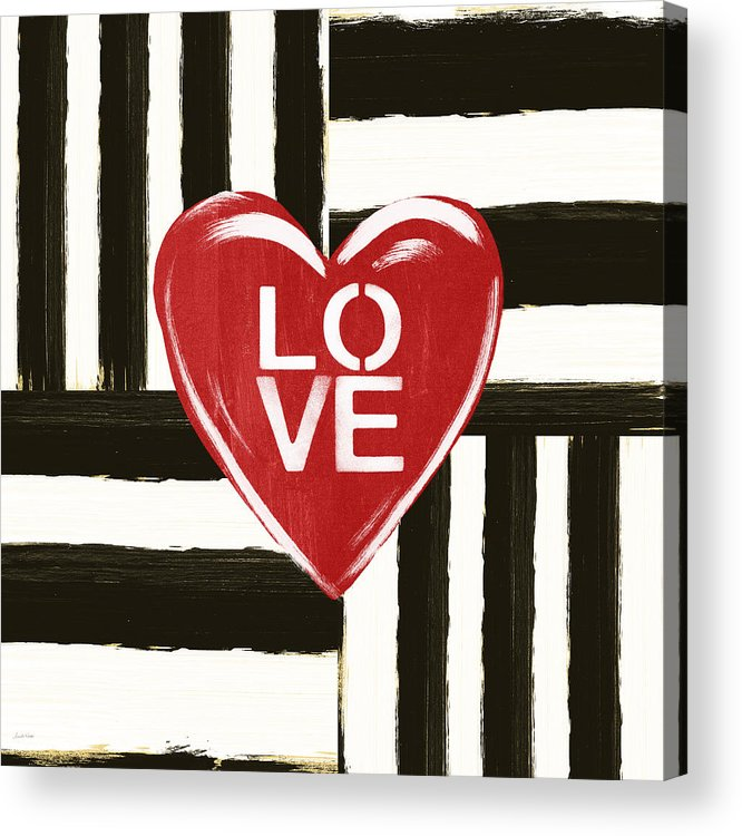 Love Acrylic Print featuring the painting Modern Love- Art By Linda Woods by Linda Woods