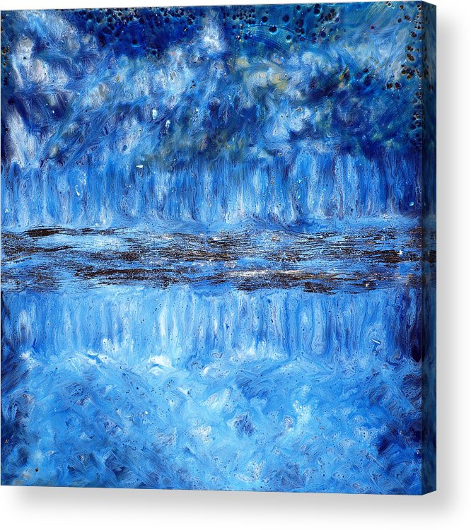 Abstract Acrylic Print featuring the painting Moon River by Paul Tokarski