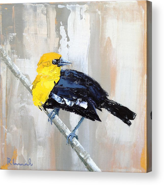 Bird Acrylic Print featuring the painting Mr. Curious by Nathan Rhoads