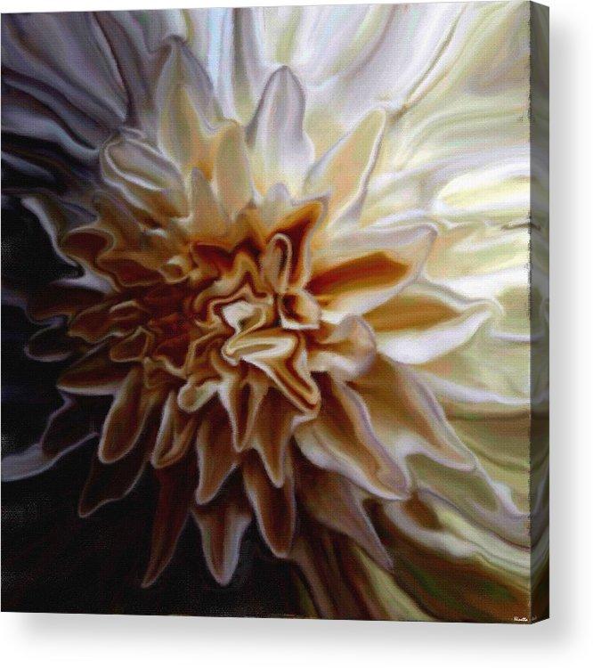 Flower Acrylic Print featuring the digital art My Exotic Flower by Andrea N Hernandez