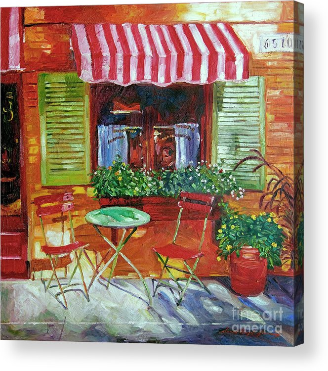 Bistro Acrylic Print featuring the painting Napa Bistro by David Lloyd Glover