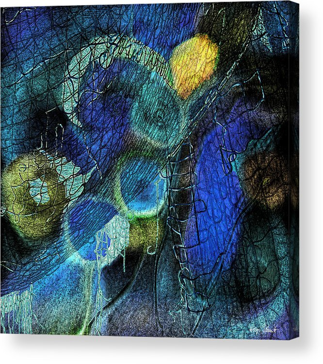 Photopainting Acrylic Print featuring the digital art Network 4 by Helga Schmitt