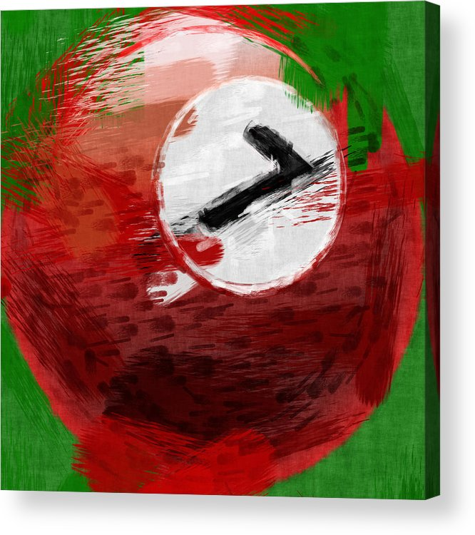 Seven Acrylic Print featuring the photograph Number Seven Billiards Ball Abstract by David G Paul