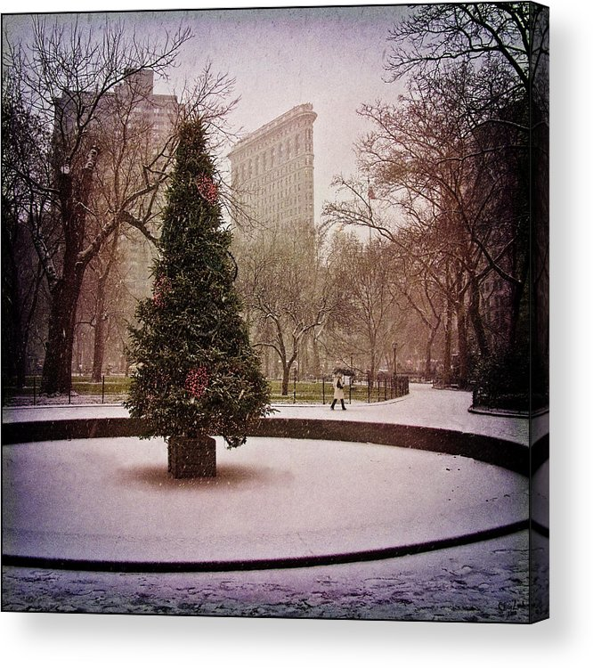 Christmas Acrylic Print featuring the photograph Nyc Christmas by Chris Lord