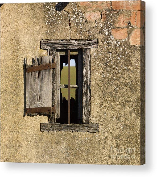 Window Acrylic Print featuring the photograph Old Shack by Bernard Jaubert