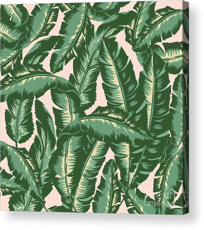 Leaves Acrylic Print featuring the digital art Palm Print by Lauren Amelia Hughes