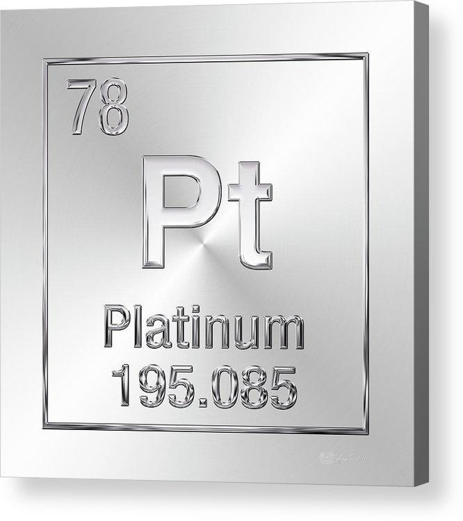 Periodic Table Of Elements Platinum Pt Acrylic Print