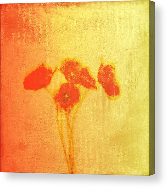 Poppies Acrylic Print featuring the painting Poppies by Jude Reid