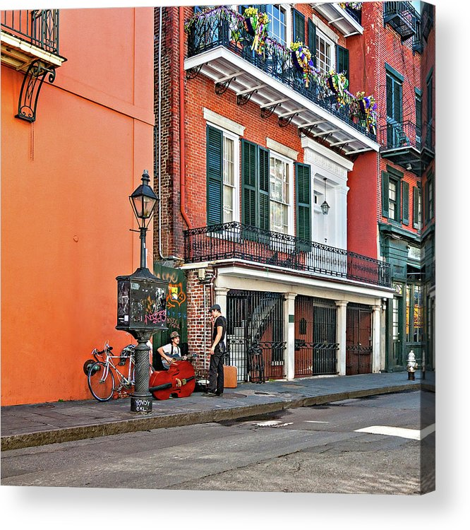 French Quarter Acrylic Print featuring the photograph Quarter Time by Steve Harrington