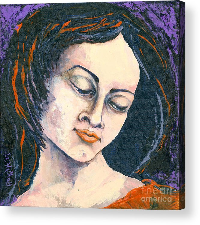 Canvas Prints Acrylic Print featuring the painting Quiet Contemplation by Elisabeta Hermann