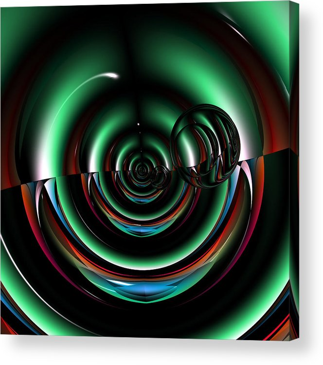 Abstract Acrylic Print featuring the digital art Reforeskin by Andrew Kotlinski