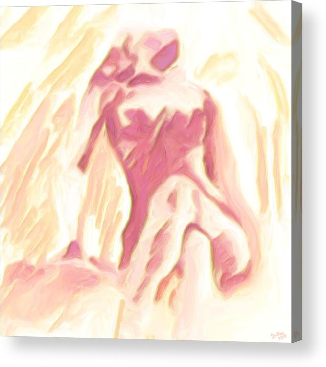 Nude Acrylic Print featuring the painting Relief by Shelley Bain