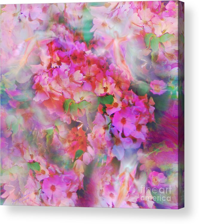Rose Acrylic Print featuring the painting Rose Devas by Glenyss Bourne