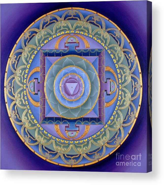 Mandala Acrylic Print featuring the painting Sacred Feminine by Charlotte Backman