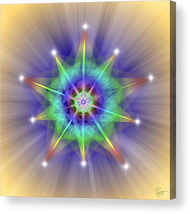 Endre Acrylic Print featuring the digital art Sacred Geometry 83 by Endre Balogh