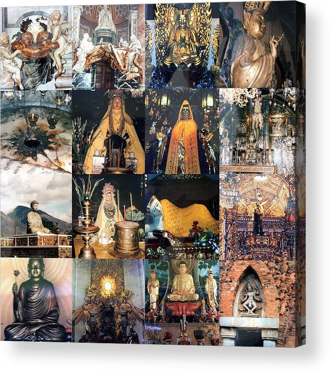 Collage Acrylic Print featuring the photograph Sacred Places by Carmen Cordova
