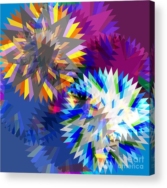 Art Acrylic Print featuring the digital art Saw Blade by Atiketta Sangasaeng