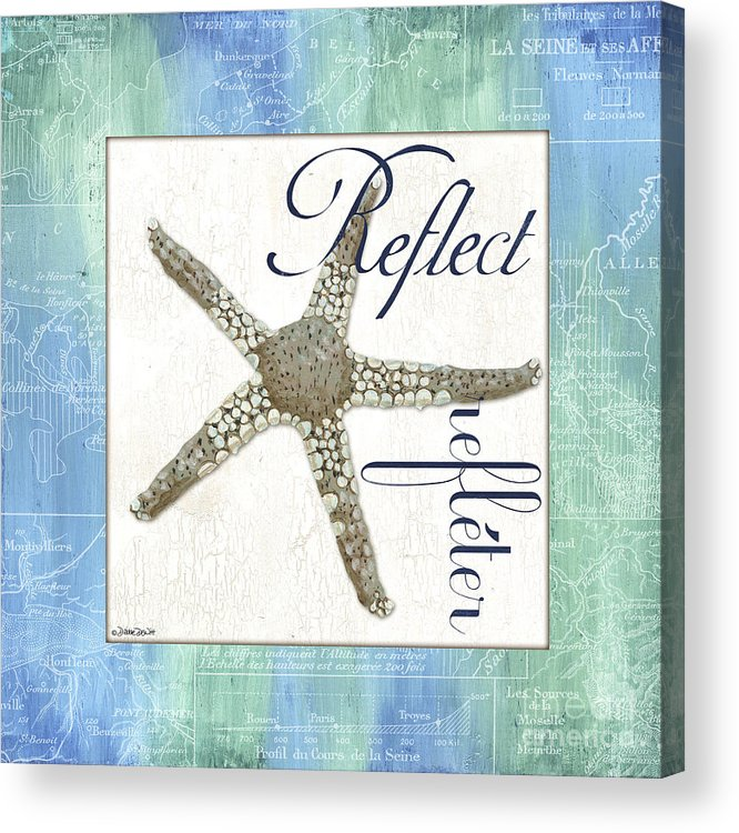 Starfish Acrylic Print featuring the painting Sea Glass 3 by Debbie DeWitt
