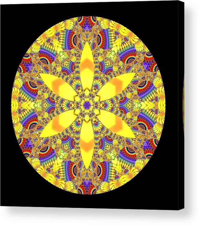 Mandala Acrylic Print featuring the digital art Seed Of Life by Robert Thalmeier