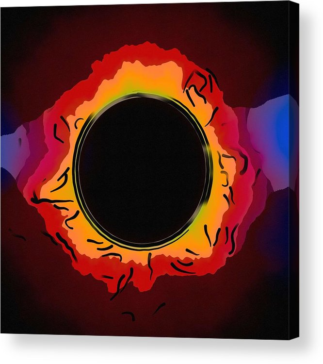 Sun Acrylic Print featuring the painting Solar Eclipse 3 by Celestial Images