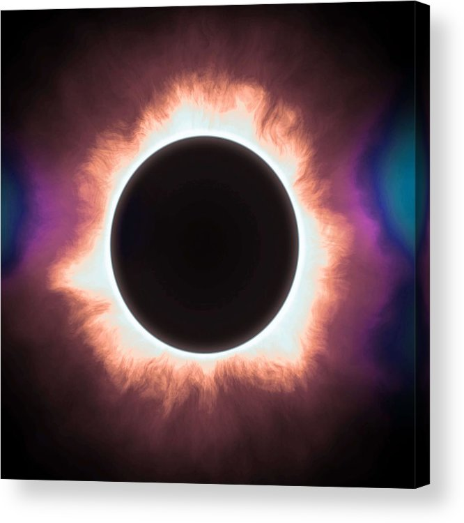 Sun Acrylic Print featuring the painting Solar Eclipse In Infrared 2 by Celestial Images