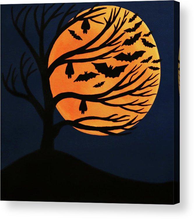 Spooky Bat Tree Acrylic Print