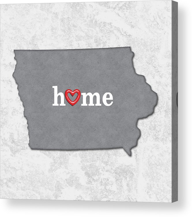 photo regarding Printable Map of Iowa identify Place Map Define Iowa With Centre Within House Acrylic Print