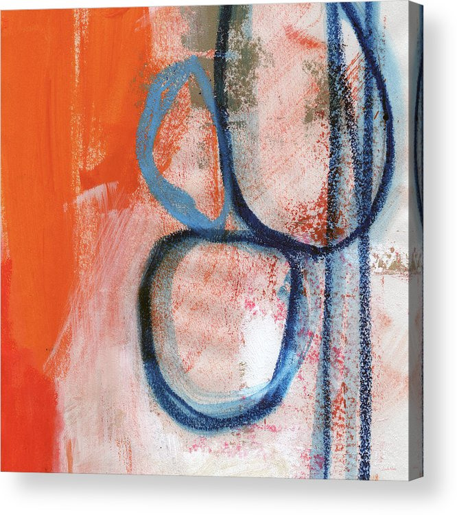 Contemporary Abstract Acrylic Print featuring the painting Tender Mercies by Linda Woods