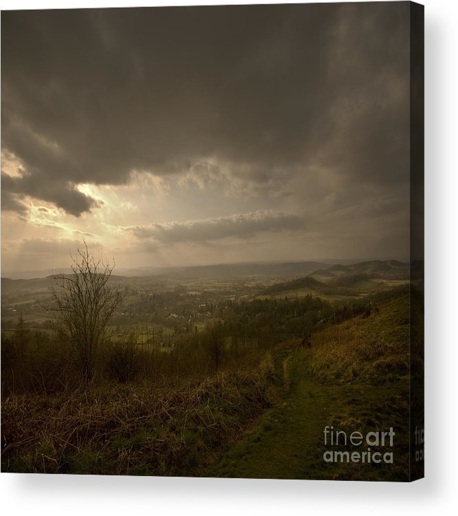 Malvern Acrylic Print featuring the photograph The Malvern Hills by Angel Ciesniarska