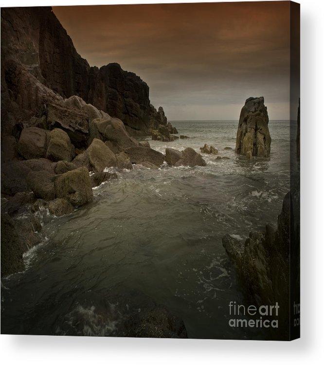 Sea Acrylic Print featuring the photograph The Sea And The Rocks by Angel Ciesniarska