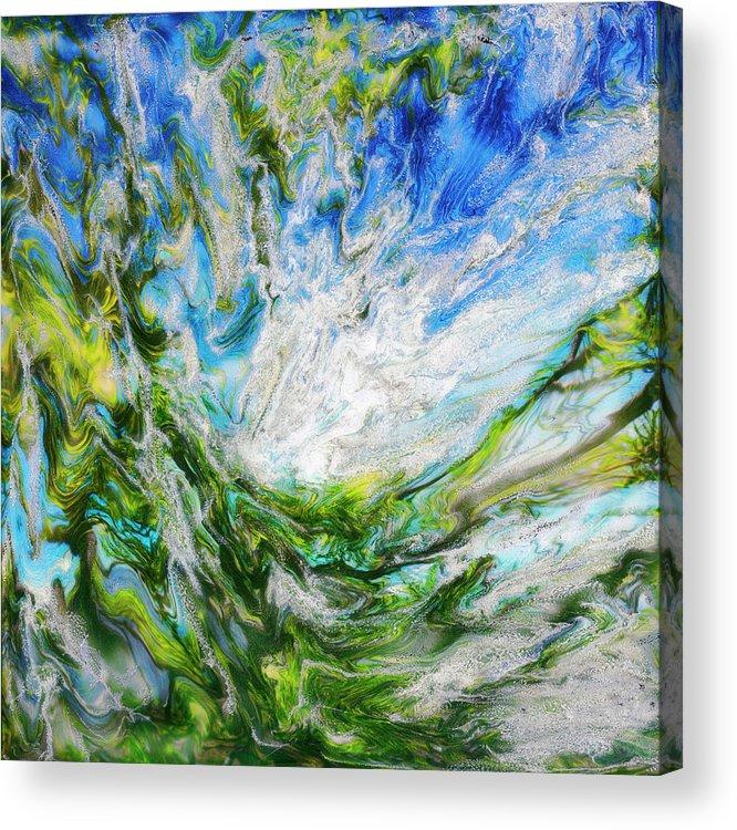 Paul Tokarski Acrylic Print featuring the photograph Tree And Sky by Paul Tokarski