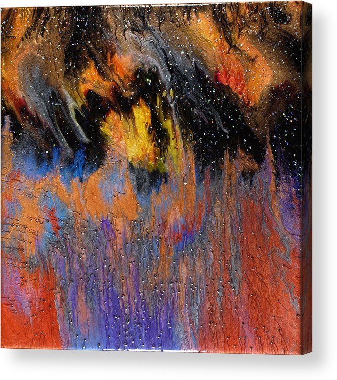 Abstract Acrylic Print featuring the painting Twilight Wonder by Paul Tokarski