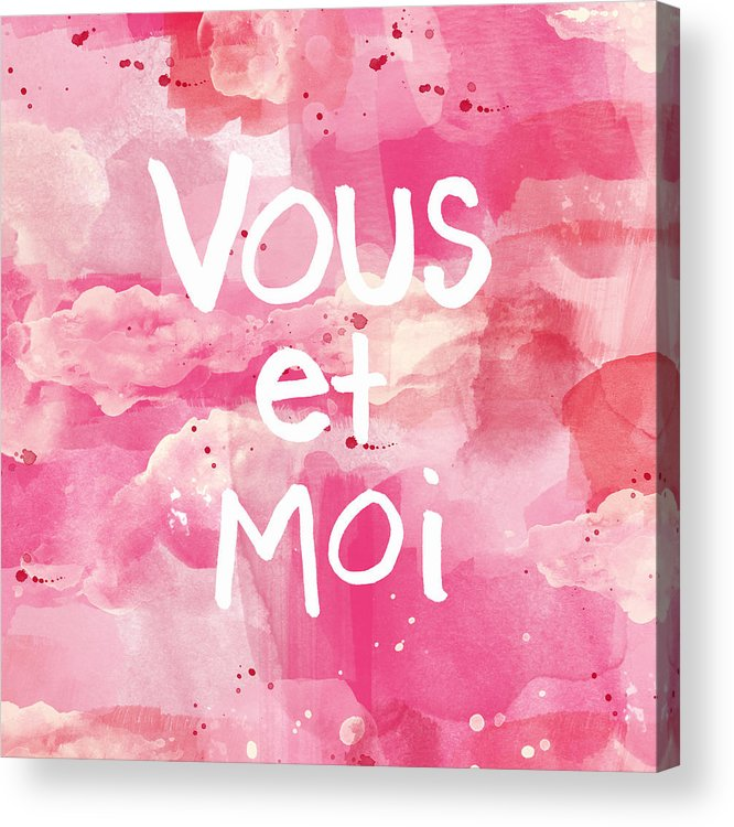 Vous Et Moi Acrylic Print featuring the painting Vous Et Moi by Linda Woods