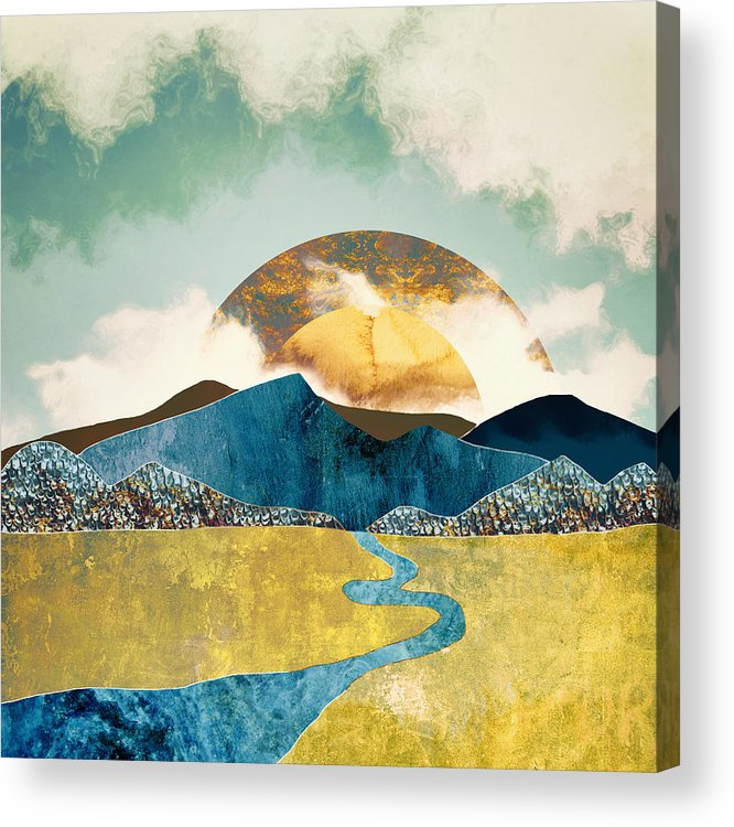 Mountains Acrylic Print featuring the digital art Wanderlust by Katherine Smit