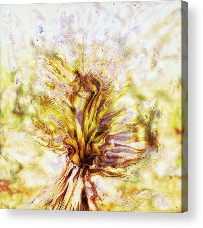 Paul Tokarski Acrylic Print featuring the photograph Yellow Burning Yucca by Paul Tokarski