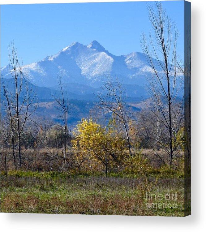 Longs Peak Acrylic Print featuring the photograph Longs Peak In The Fall by Deb Cawley