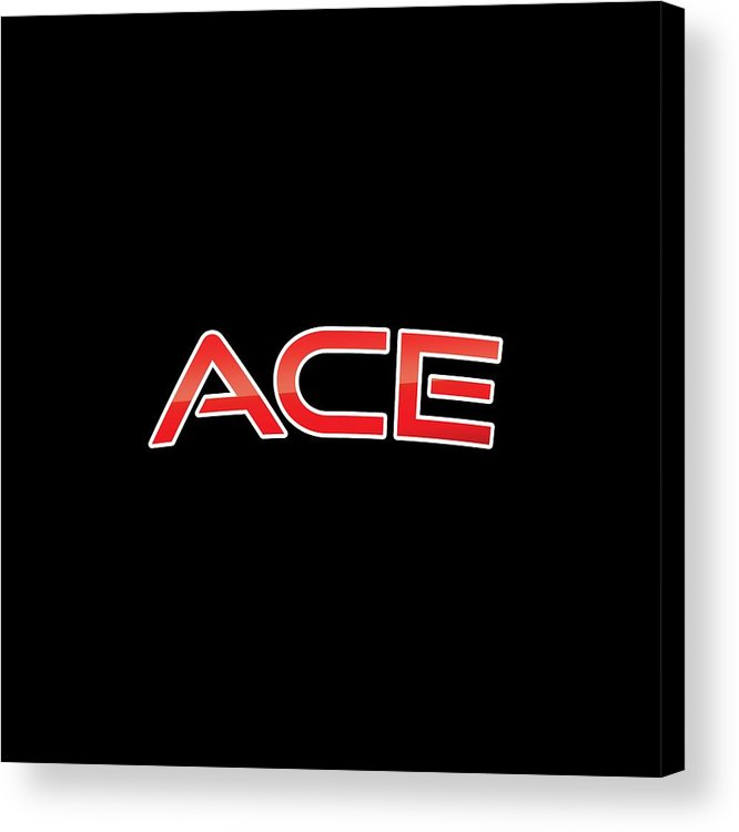 Ace Acrylic Print featuring the digital art Ace by TintoDesigns