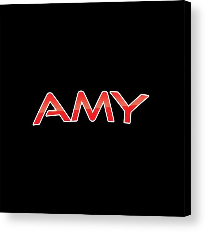 Amy Acrylic Print featuring the digital art Amy by TintoDesigns