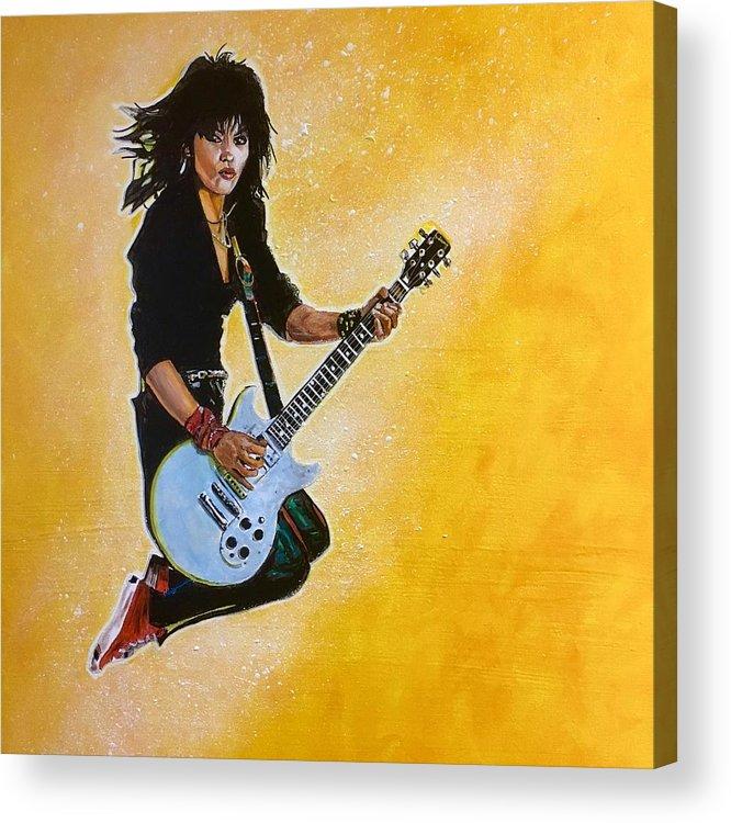 Joan Jett Acrylic Print featuring the painting Joan Jett by Joel Tesch