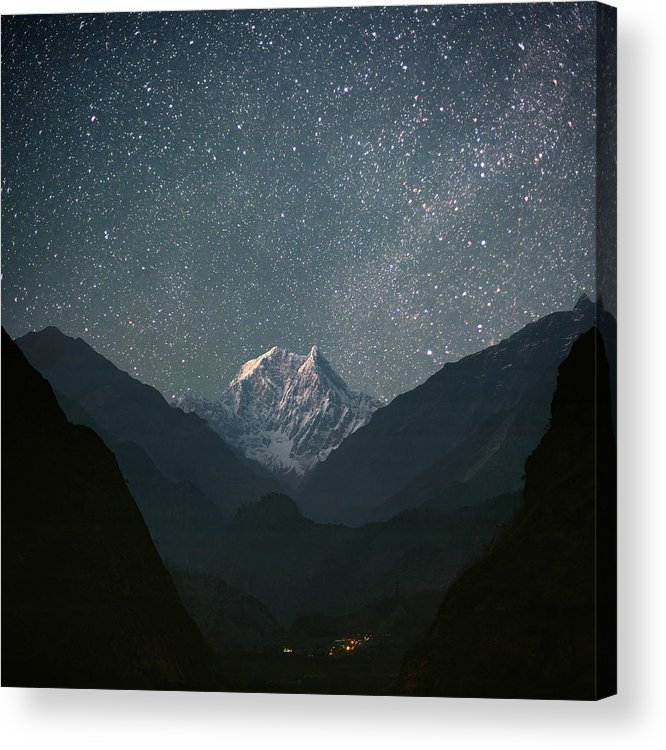 Himalayas Acrylic Print featuring the photograph Nilgiri South 6839 M by Anton Jankovoy