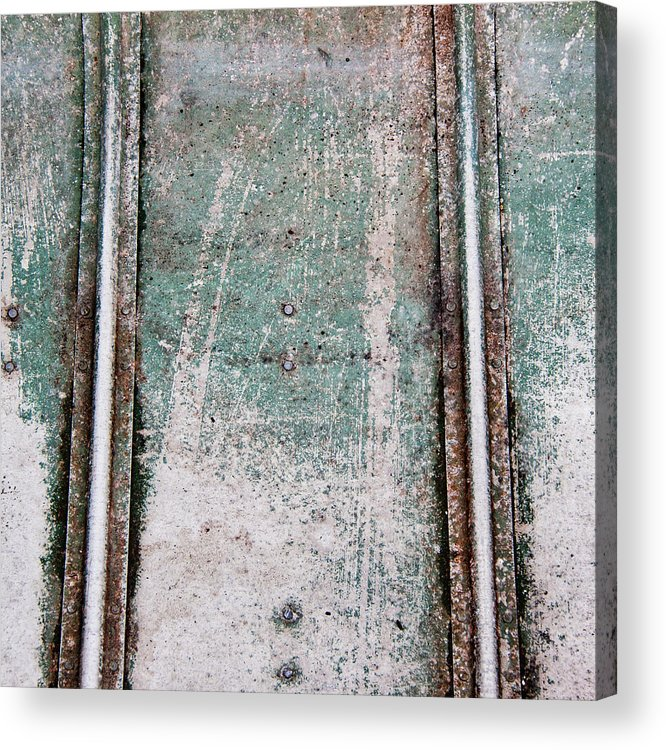 Green Acrylic Print featuring the photograph Texture Found On The Docks by Carol Leigh