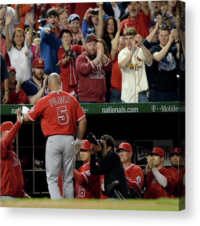 Crowd Acrylic Print featuring the photograph Albert Pujols by Patrick Smith