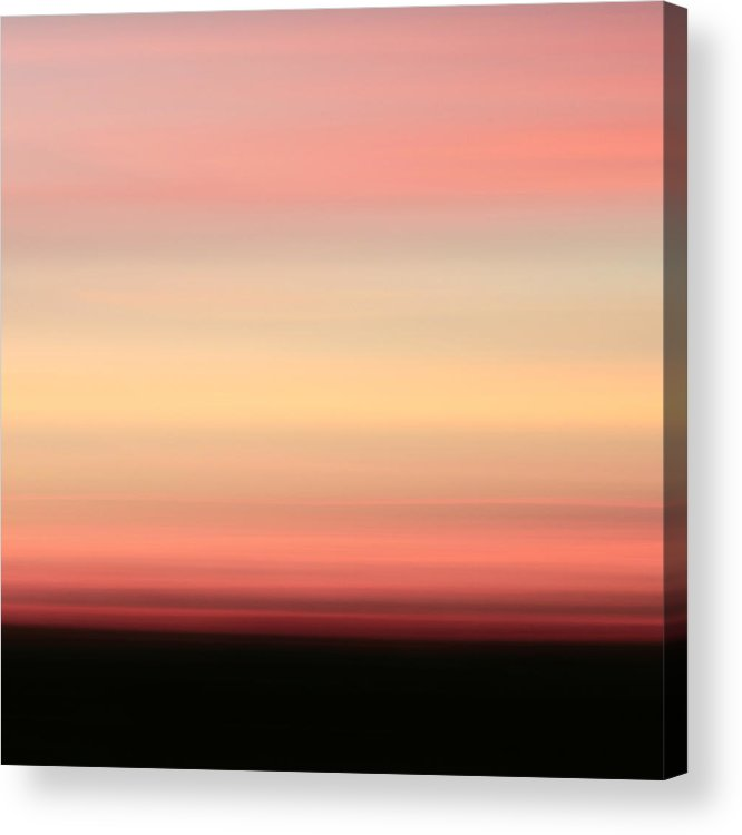 Abstract Acrylic Print featuring the photograph Blush by Laura Fasulo