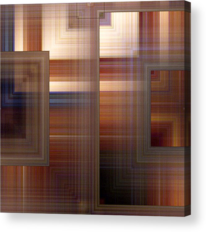 Abstract Acrylic Print featuring the painting Plaid Squared by RC DeWinter