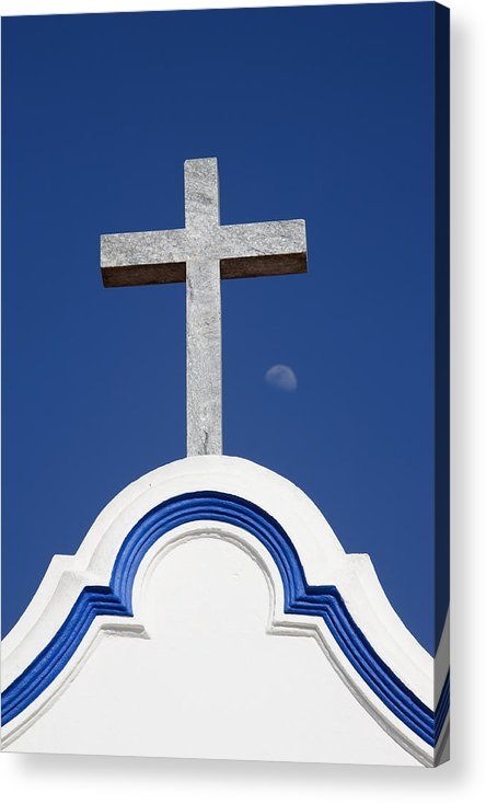 Photo Acrylic Print featuring the photograph Cross Over The Church by Carmo Correia