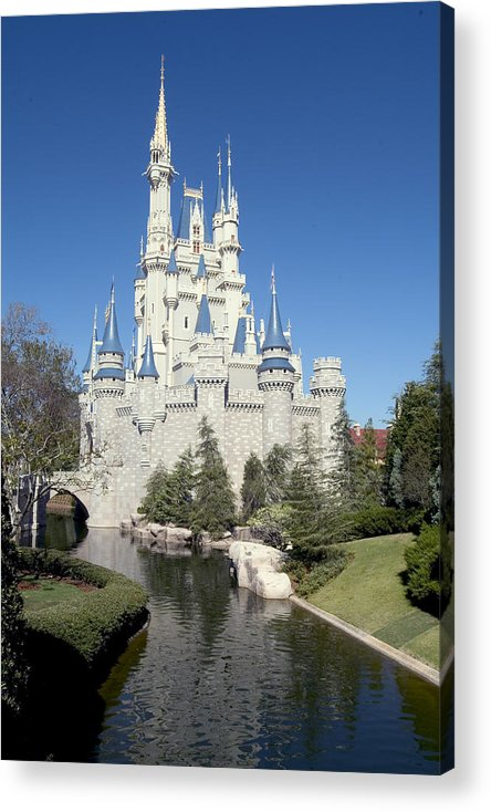 Cinderella Castle Acrylic Print featuring the photograph Cinderella Castle Reflections by Charles Ridgway