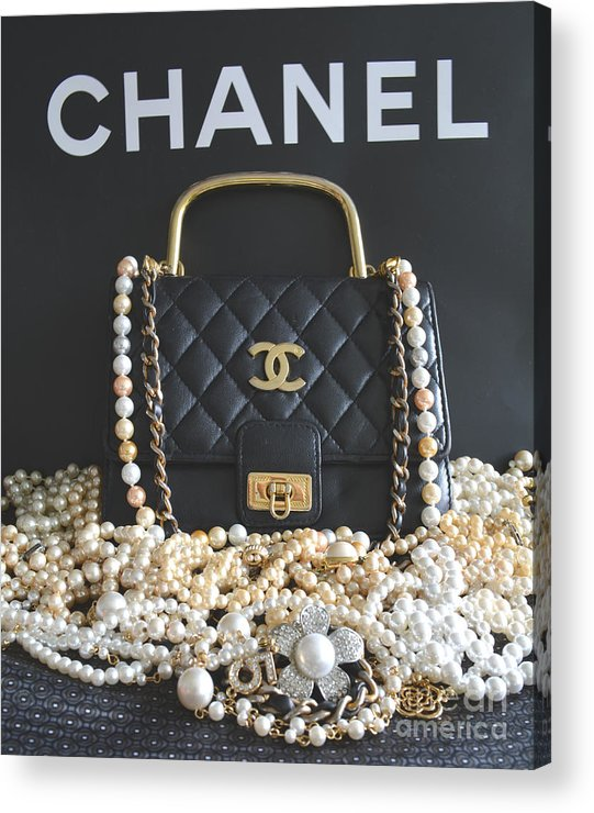 Chanel Acrylic Print featuring the photograph Timeless Beautiful Accessories by To-Tam Gerwe
