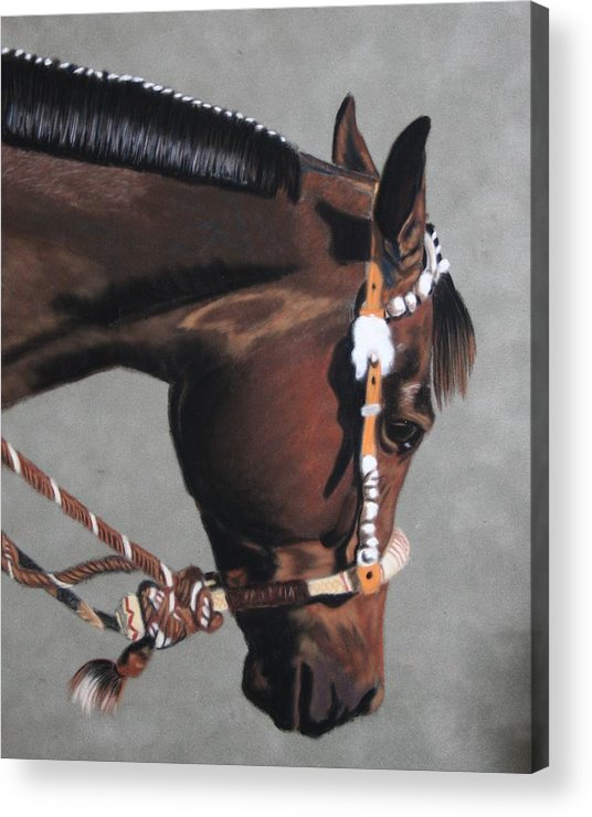 Horse Acrylic Print featuring the painting In The Showring by Lori DeBruijn