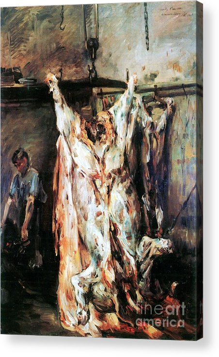 Pd Acrylic Print featuring the painting Slaughtered Ox by Pg Reproductions
